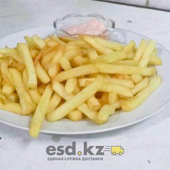 Кортофель фри с кетчупом или майонезом 400 гр цена 800 тг